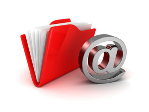 e-mail folder at symbol metallic icon