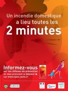 Un incendie domestique a lieu toutes le 2 minutes - Affiche